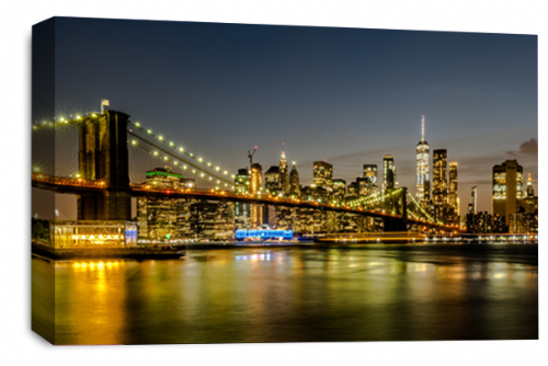 Brooklyn Bridge Wall Art New York Skyline Canvas Picture Split Panel